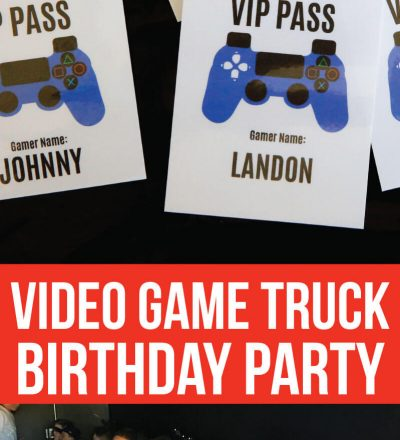Video Game Truck Birthday Party - all of the ideas! www.thirtyhandmadedays.com