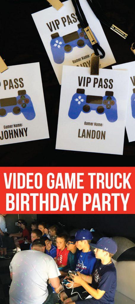 Video Game Truck Birthday Party - all of the ideas! www.thirtyhandmadedays.com