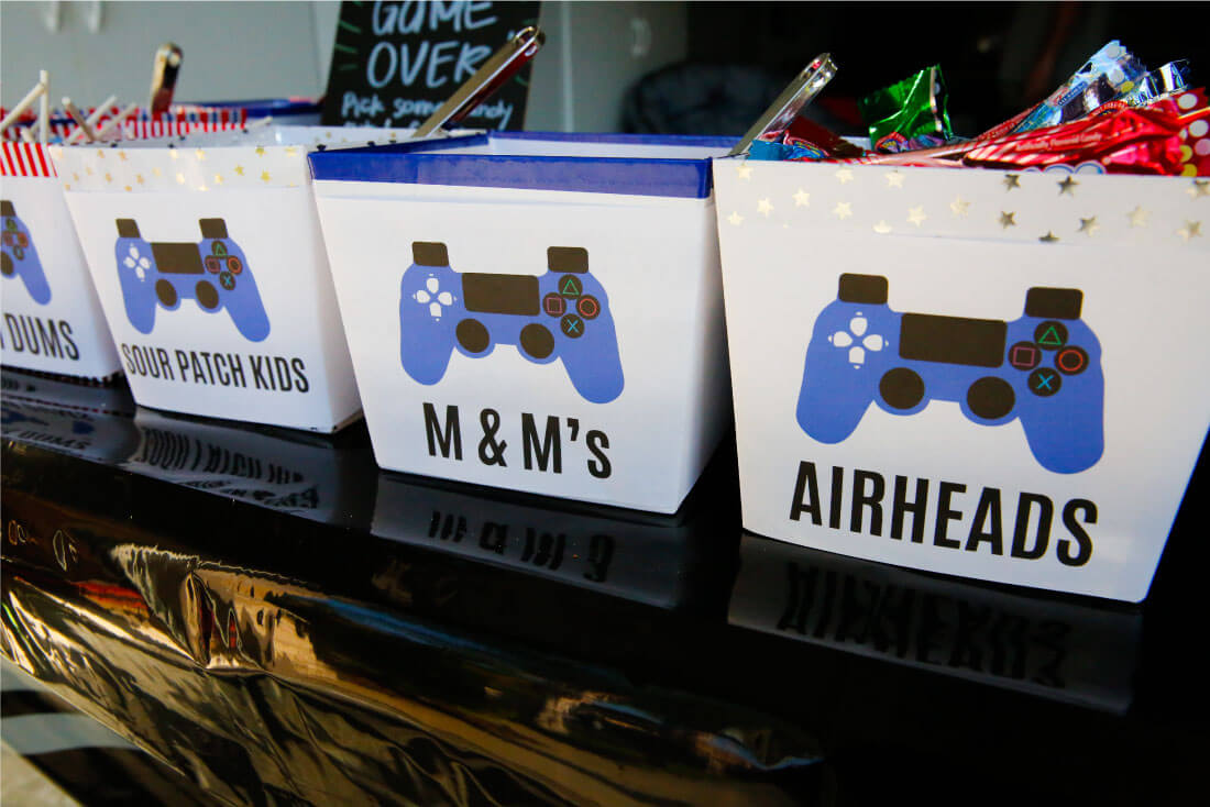 Video game truck party candies