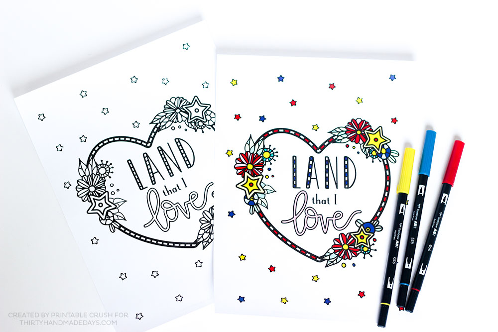 Download these pretty FREE Printable Fourth of July Coloring Pages for your kids or for guests at your Independence Day party!