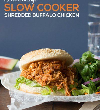 xSkinny Slow Cooker Shredded Buffalo Chicken