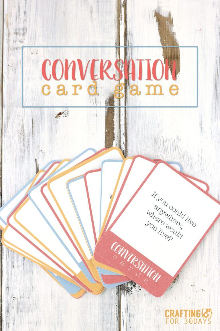 Printable conversation questions card game - fun for summer with kids!