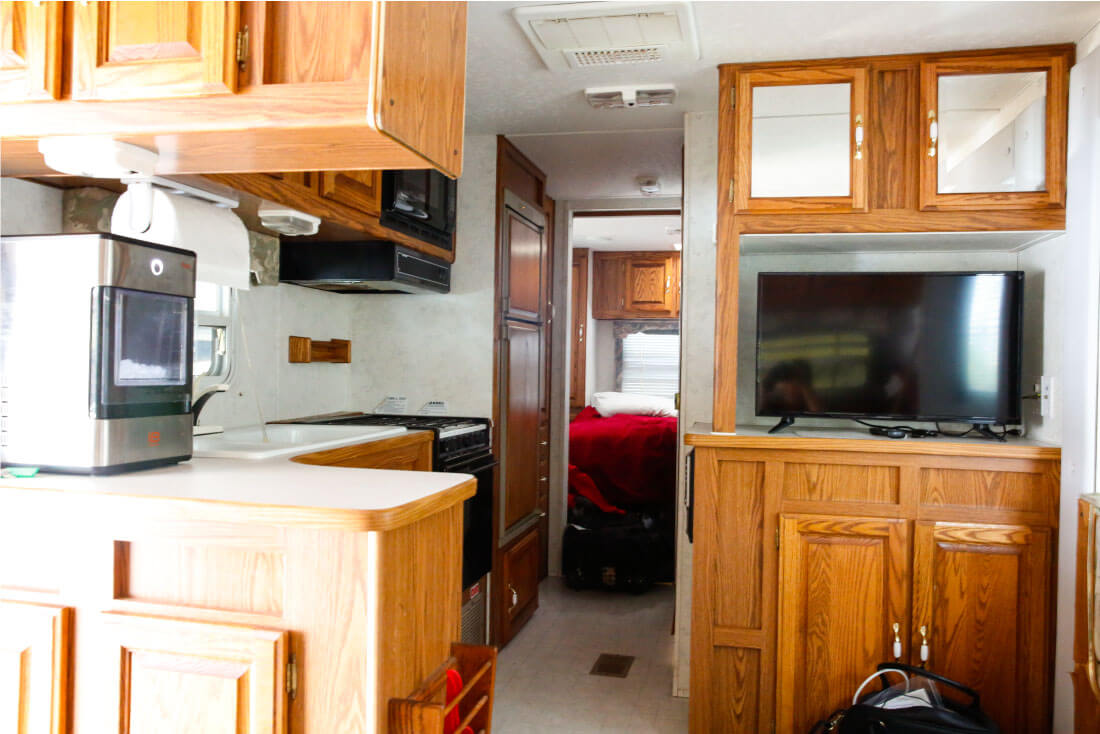 Tips for RVing from someone who hated tent camping - the inside of our RV