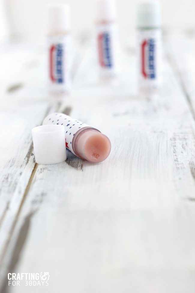 The perfect activity for summer- learn how to make lip balm. Make a 4th of July Strawberry Blueberry version that is so awesome! from CraftingE via thirtyhandmadedays.com