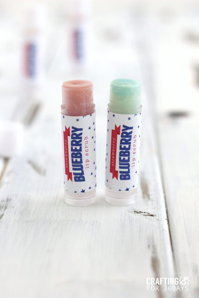 The perfect activity for summer- learn how to make lip balm. This 4th of July Strawberry Blueberry version is so awesome! from CraftingE via www.thirtyhandmadedays.com