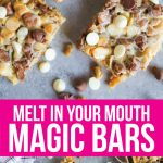 Melt In Your Mouth Magic Bars - you only need a few ingredients to make this amazing dessert. www.thirtyhandmadedays.com