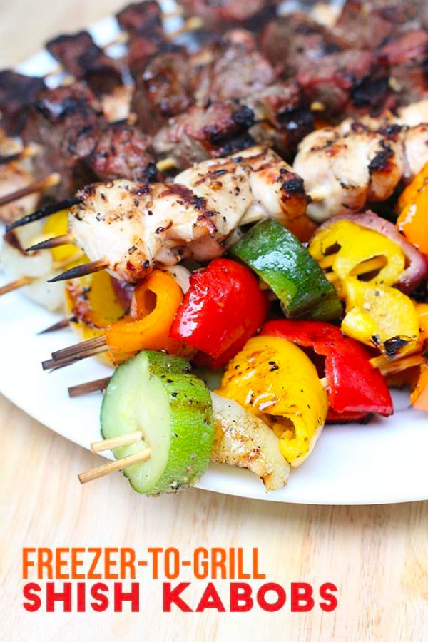 Freezer to Grill Shish Kabobs - make this simple recipe.