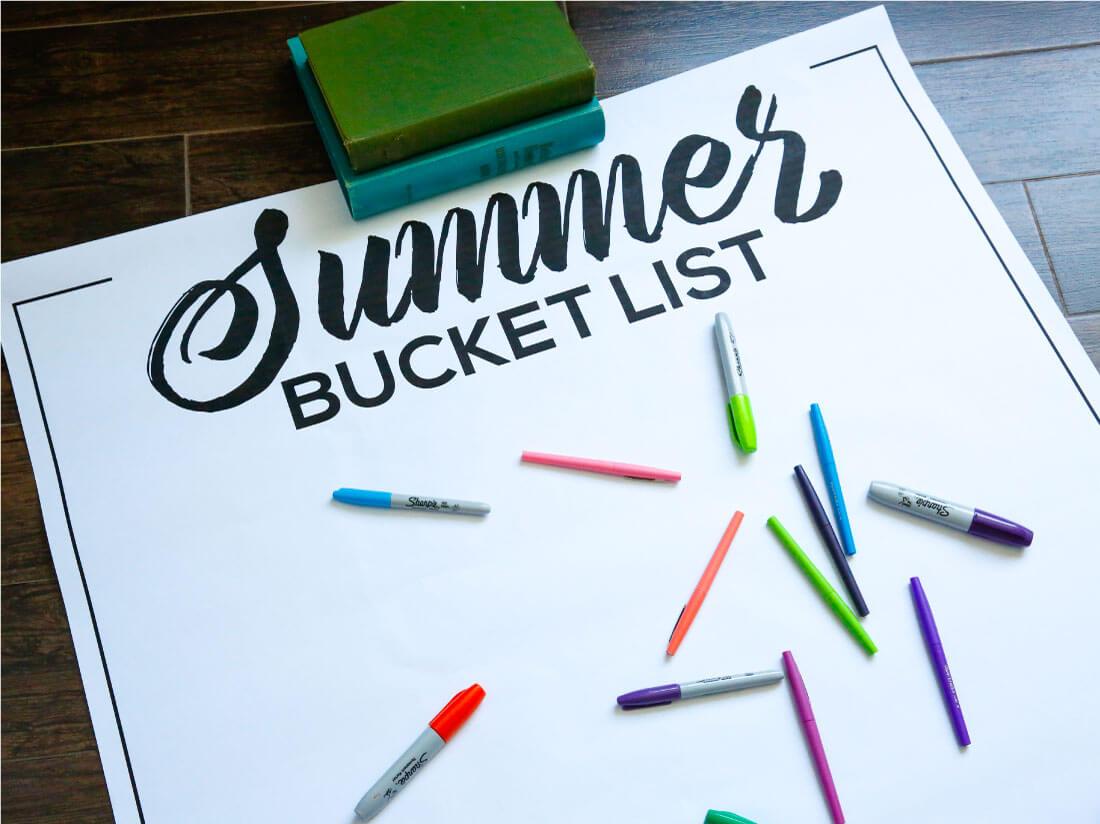 Printable Summer Bucket List - made to help have a more fun and memorable summer. thirtyhandmadedays.com