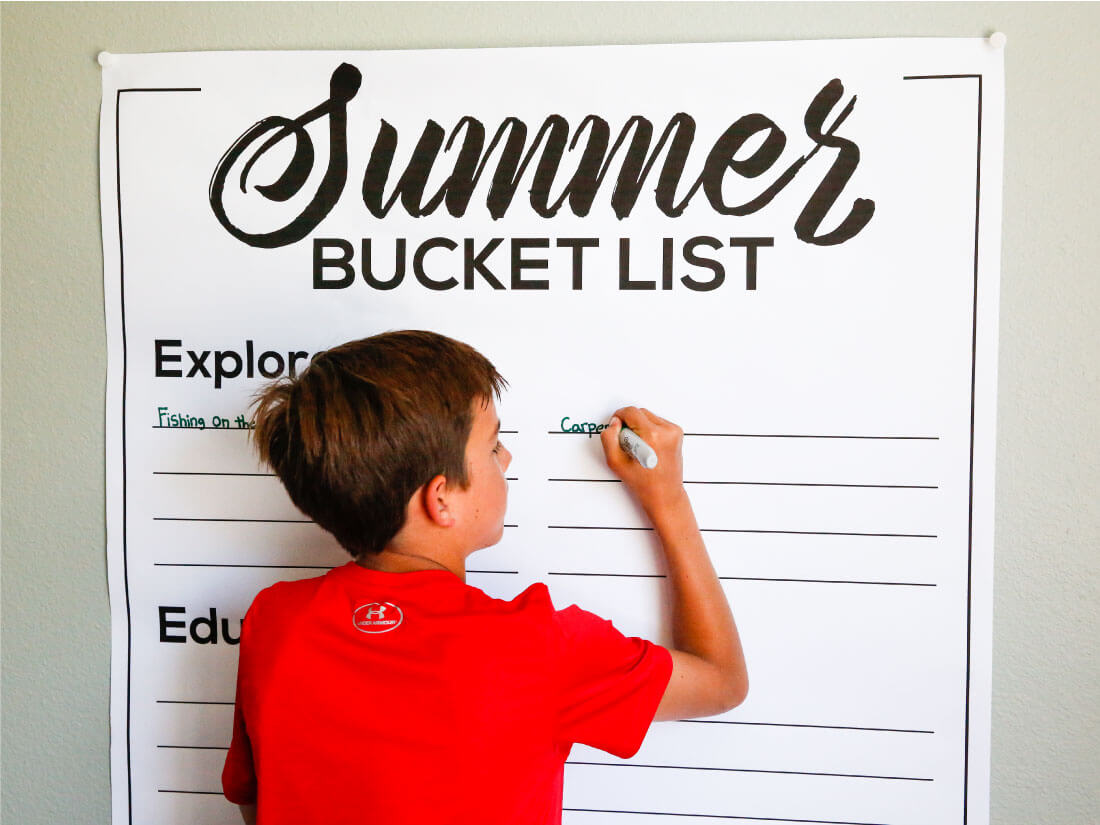 Printable Summer Bucket List - made to help have a more fun and memorable summer.