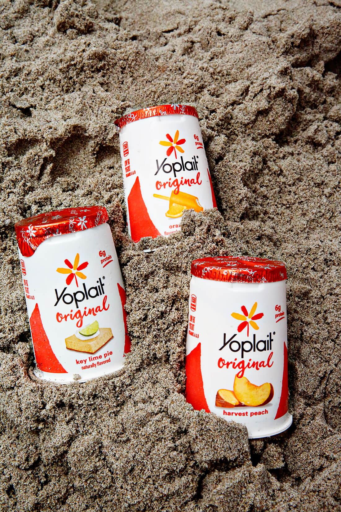 Yoplait yogurt on the beach