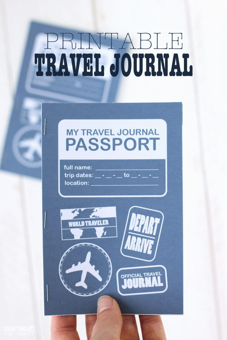 picture relating to Travel Journal Printable identified as Printable Push Magazine