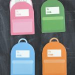Printable Backpack School Lunch Box Notes