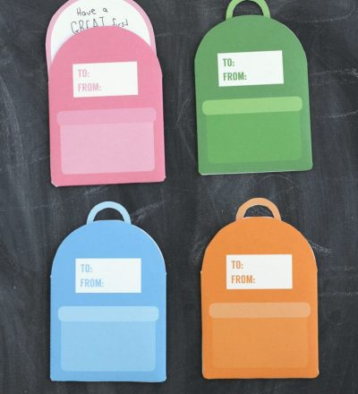 Printable Backpack Lunchbox Notes- cute back to school notes for your kids! by Crafting E via thirtyhandmadedays.com