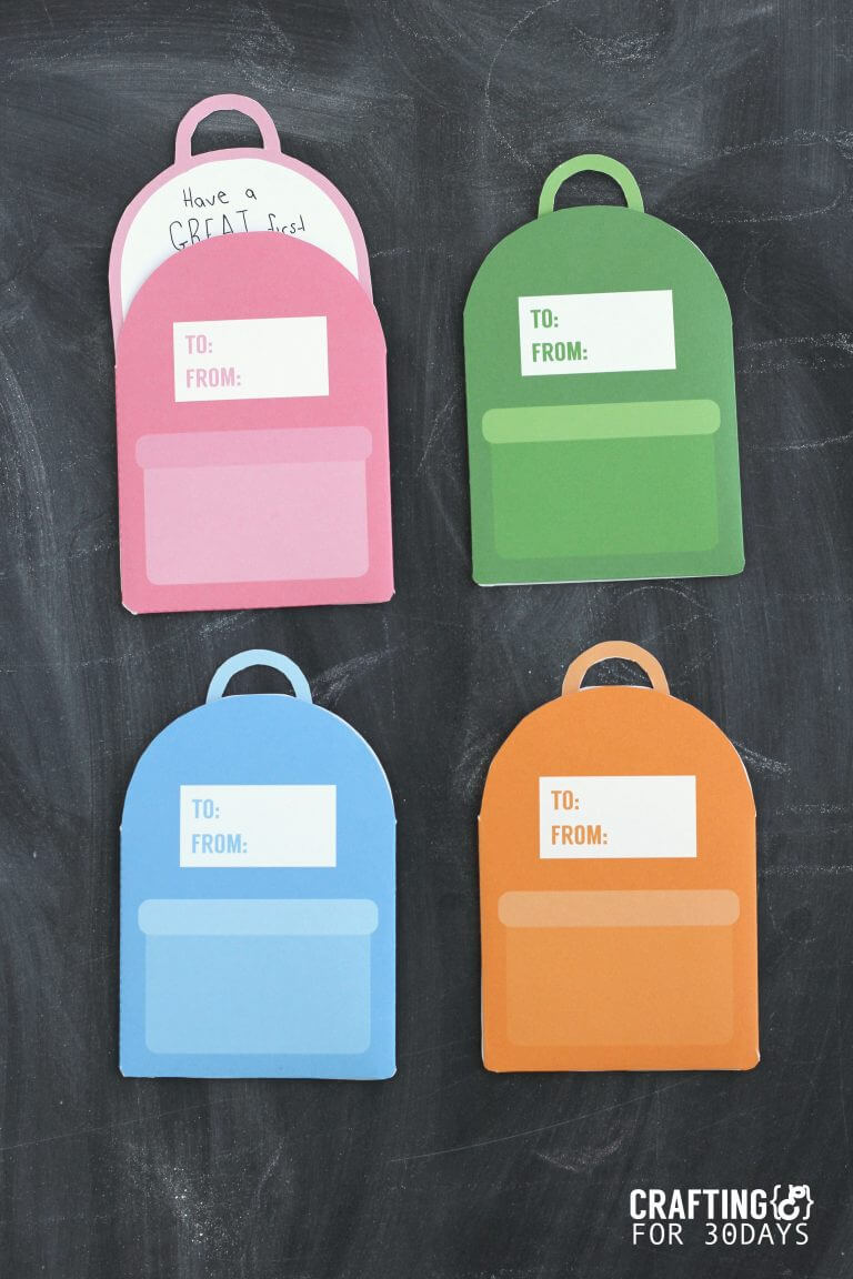 Printable Backpack Lunch box Notes- cute back to school notes for your kids! by Crafting E via thirtyhandmadedays.com