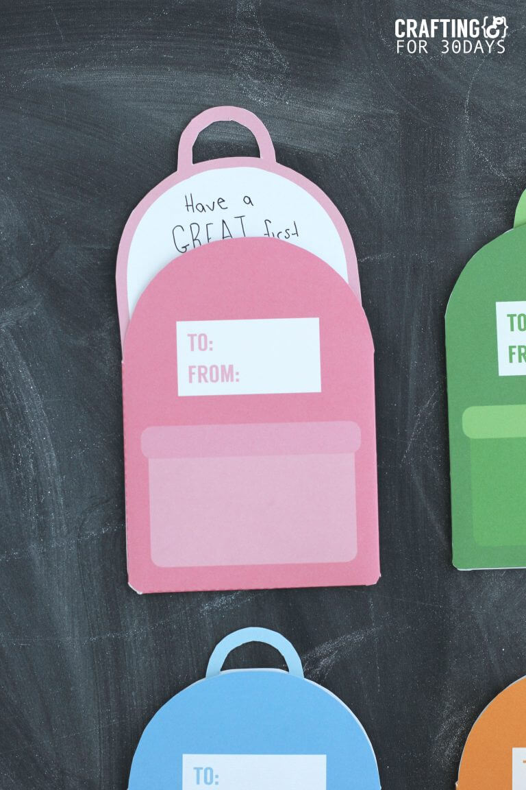 Printable Backpack Lunch box Notes- cute back to school notes for your kids! by Crafting E via www.thirtyhandmadedays.com