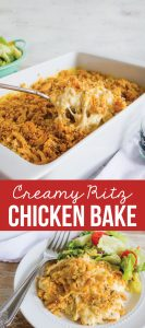 Creamy Ritz Chicken Bake - this will be one of your family favorite main dishes for sure!
