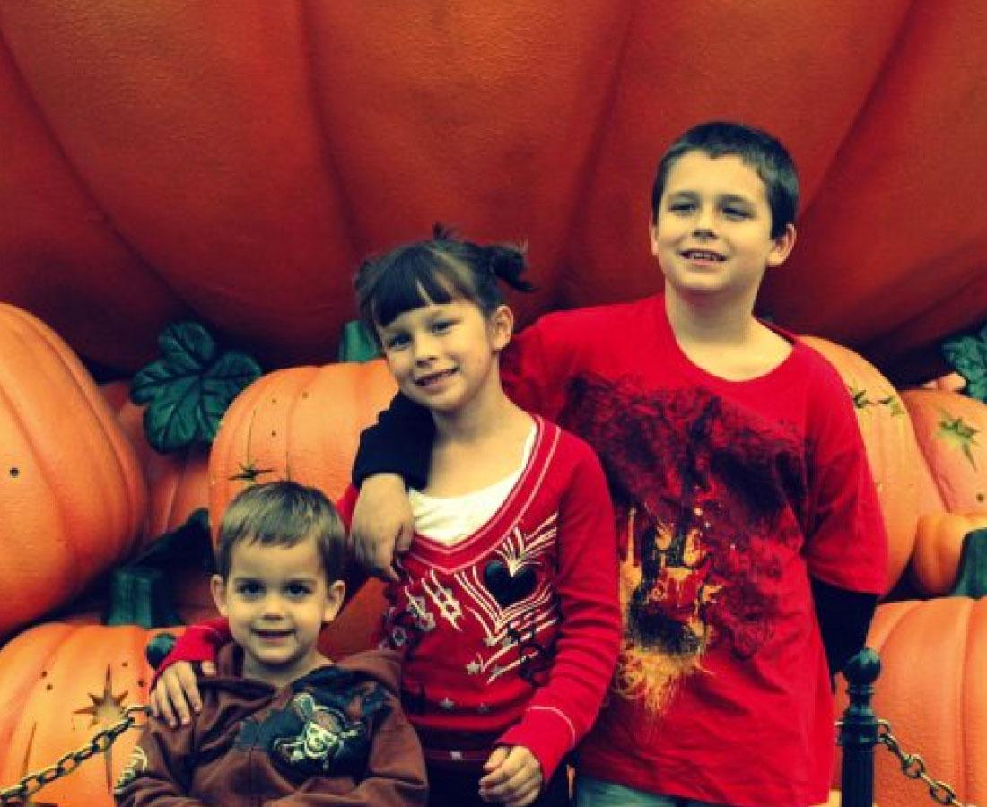 Kids at Disneyland during Halloweentime