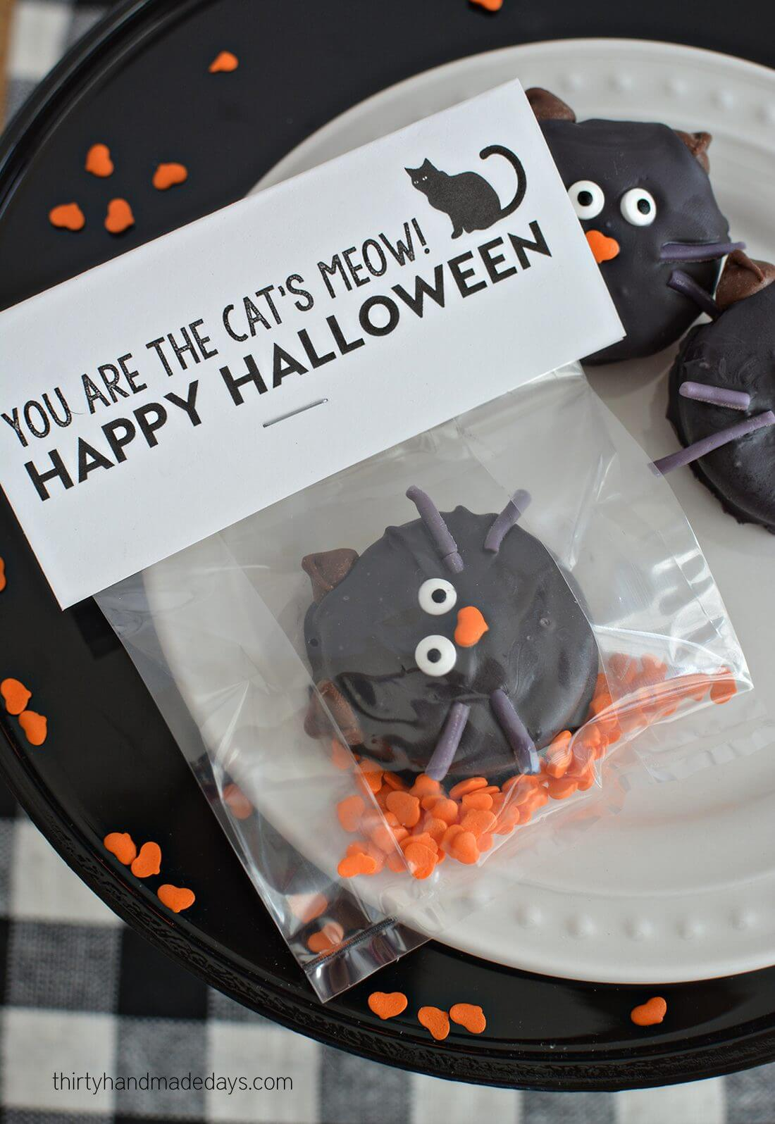 You are the cat's meow - Halloween Printables www.thirtyhandmadedays.com