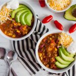 Mom's Taco Soup - a super easy main dish recipe where you throw all the ingredients in the pot and let it simmer. from thirtyhandmadedays.com