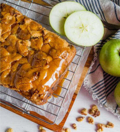 Apple Cake with a delicious caramel topping - make this apple cake recipe and you'll fall in love with it. Perfect for fall! from www.thirtyhandmadedays.com