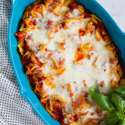 Super simple but tasty Baked Tortellini - if your family likes pasta, they will love this ooey gooey main dish! from www.thirtyhandmadedays.com