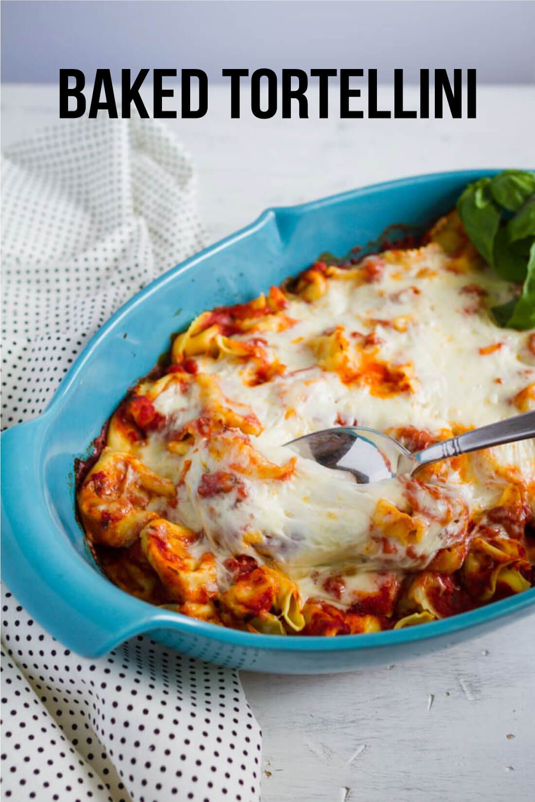 Super simple but tasty Baked Tortellini - if your family likes pasta, they will love this ooey gooey main dish!