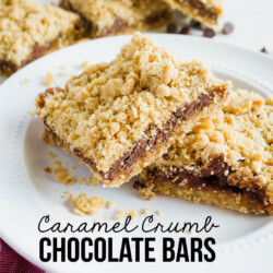 Caramel Crumb Chocolate Bars - make this easy dessert for a sweet treat!