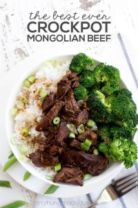 Slow Cooker Mongolian Beef - an easy, tasty dinner recipe! www.thirtyhandmadedays.com