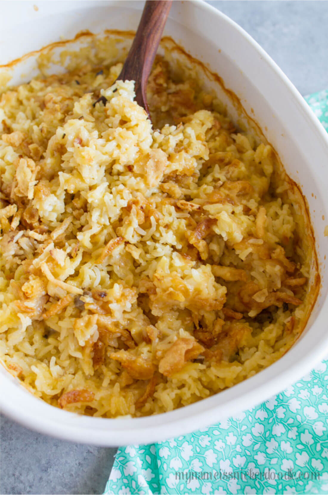 One of the best rice dishes - creamy rice. It's easy and tastes amazing. From My Name is Snickerdoodle via www.thirtyhandmadedays.com