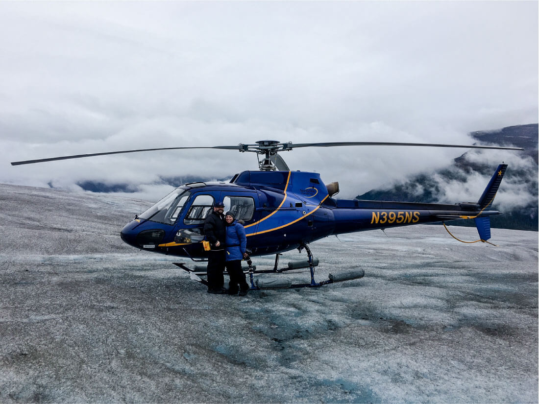 What's It Really Like Going on an Alaskan Cruise? Standing on top of Taku Glacier.