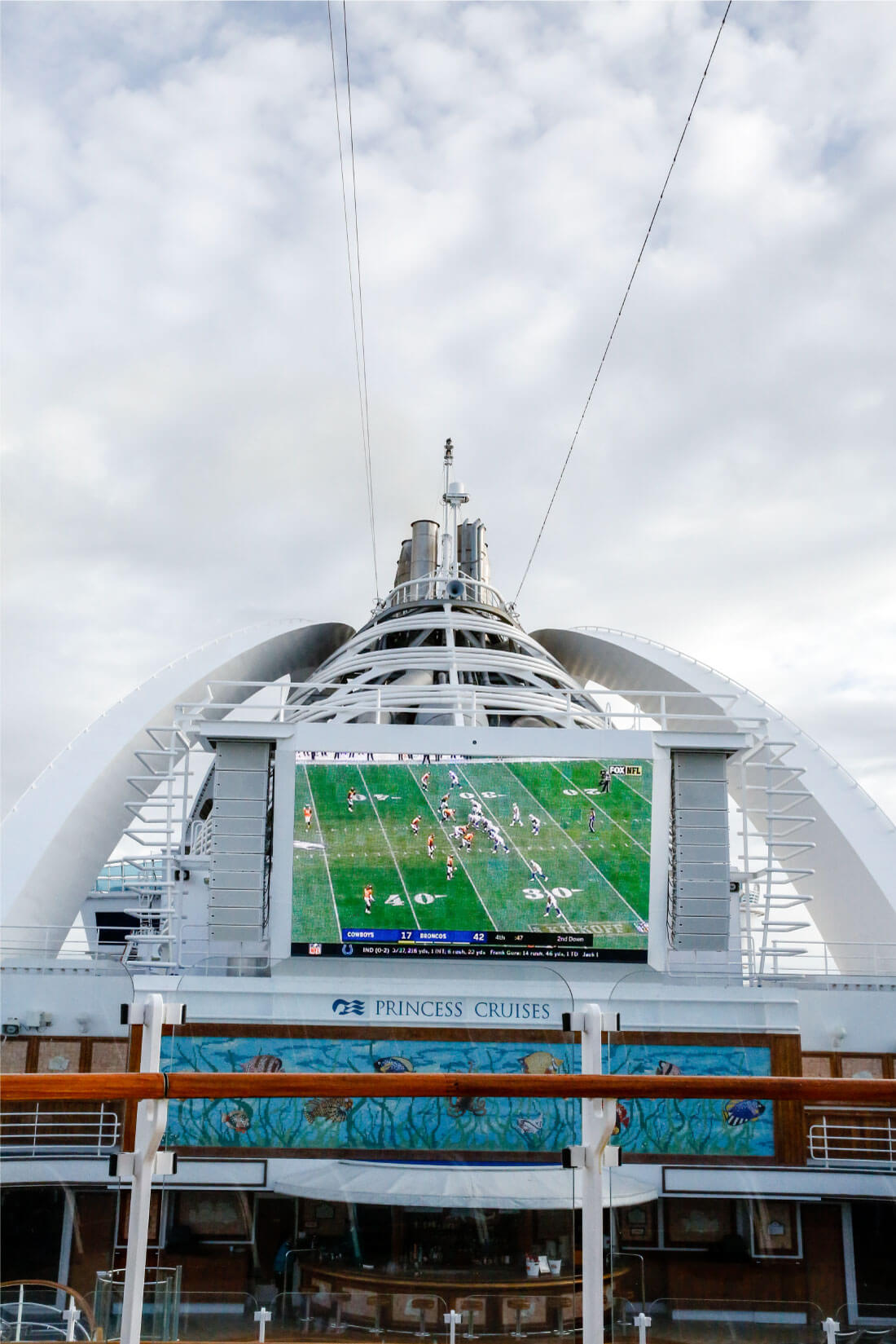 What's It Really Like Going on an Alaskan Cruise? Football game