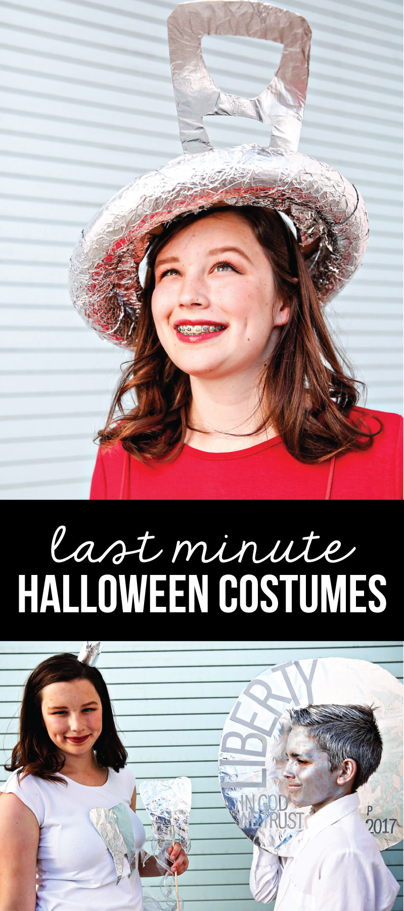 Last Minute Halloween Costumes: How to make 4 different costumes via www.thirtyhandmadedays.com