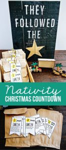 Nativity Christmas Countdown - bring the true meaning of Christmas into your home www.thirtyhandmadedays.com