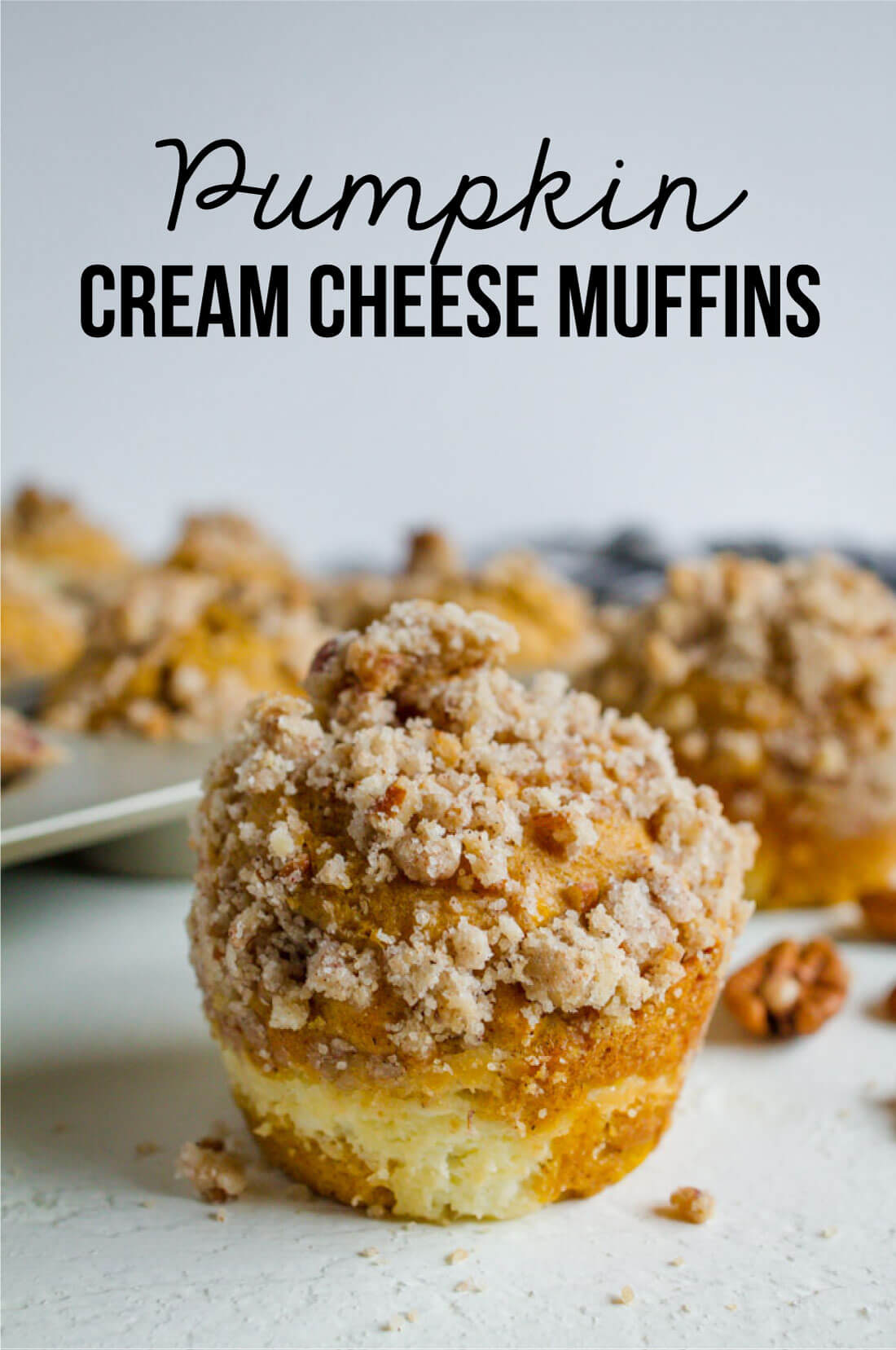 Pumpkin Cream Cheese Muffins- the perfect fall treat from www.thirtyhandmadedays.com