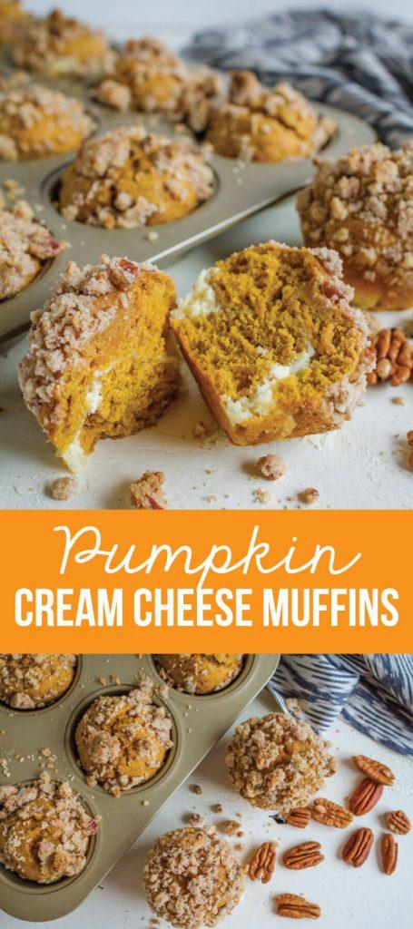 Pumpkin Cream Cheese Muffins- the perfect fall treat www.thirtyhandmadedays.com