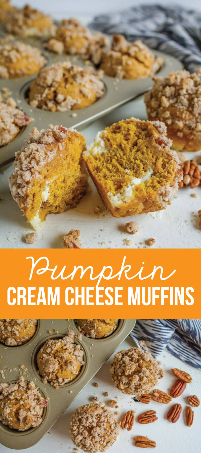 Pumpkin Cream Cheese Muffins- the perfect fall treat www.thirtyhandmadedays.com