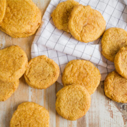 Pumpkin Snickerdoodles - a fresh take on an old classic for fall! from www.thirtyhandmadedays.com