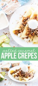 Salted Caramel Apple Crepe Recipe - the perfect breakfast OR dessert recipe for fall! from www.thirtyhandmadedays.com