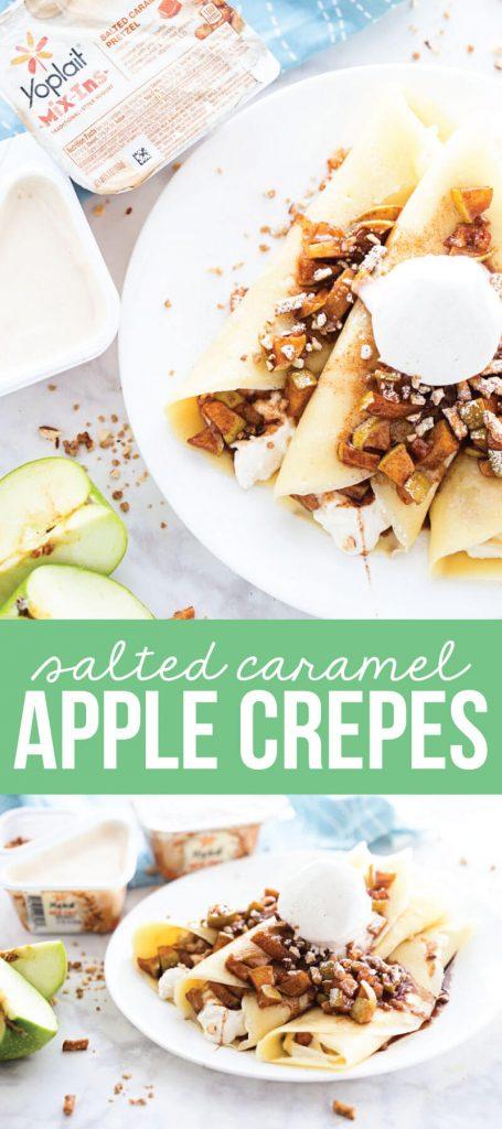 Salted Caramel Apple Crepe Recipe - the perfect breakfast OR dessert recipe for fall! from www.thirtyhandmadedays.com