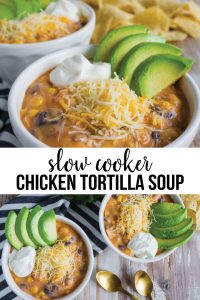 This Slow Cooker Chicken Tortilla Soup is really easy to put together and something the whole family will love. www.thirtyhandmadedays.com