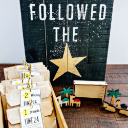 Nativity Christmas Countdown - bring the true meaning of Christmas into your home with printables included via thirtyhandmadedays.com