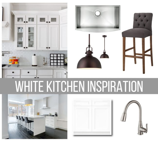 White Kitchen Inspiration - if white kitchens are your thing, use Houzz as a resource to help renovate and turn it into an amazing space!