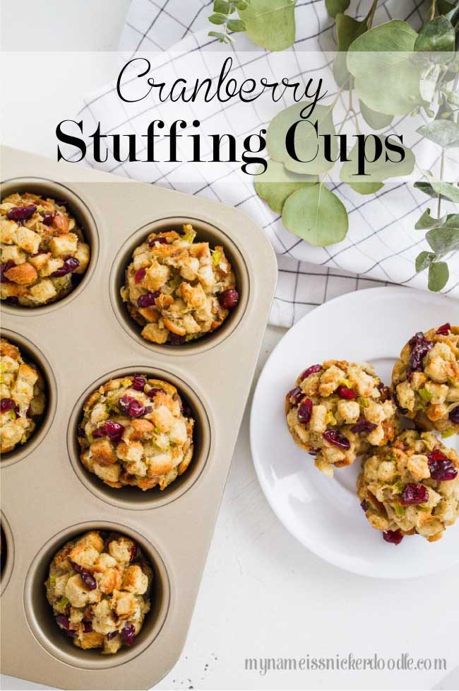 Cranberry Stuffing Cups