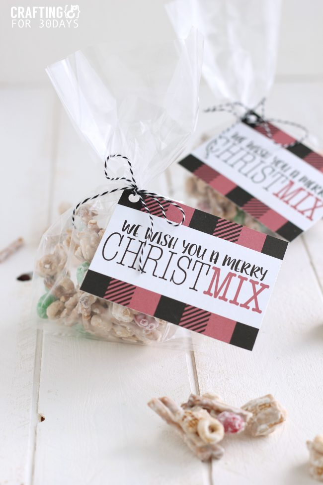 Want to make your friends and neighbors feel special but not brake the bank?  Make these cheap Christmas gifts and deliver to them!  Christmas Mix with printable tags  thirtyhandmadedays.com