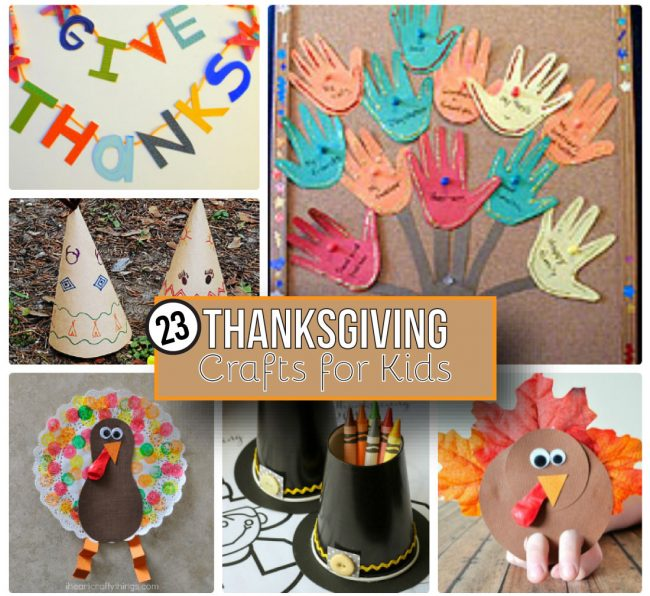 23 Thanksgiving Crafts for Kids - use these fun ideas for the holiday. www.thirtyhandmadedays.com