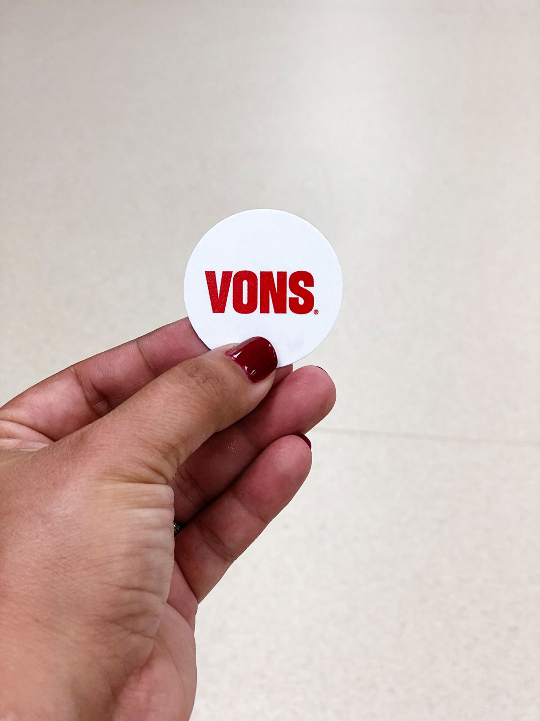 In partnership with Vons Grocery Stores
