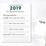 Printable New Year Resolution List - print out to set some new goals!