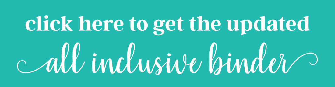 Click here to get the updated all inclusive binder