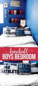 Boys Bedroom Ideas- create a fun baseball space for your athlete! via www.thirtyhandmadedays.com