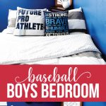 Boys Bedroom Ideas- create a fun baseball space for your athlete! via www.thirtyhandmadedays.com